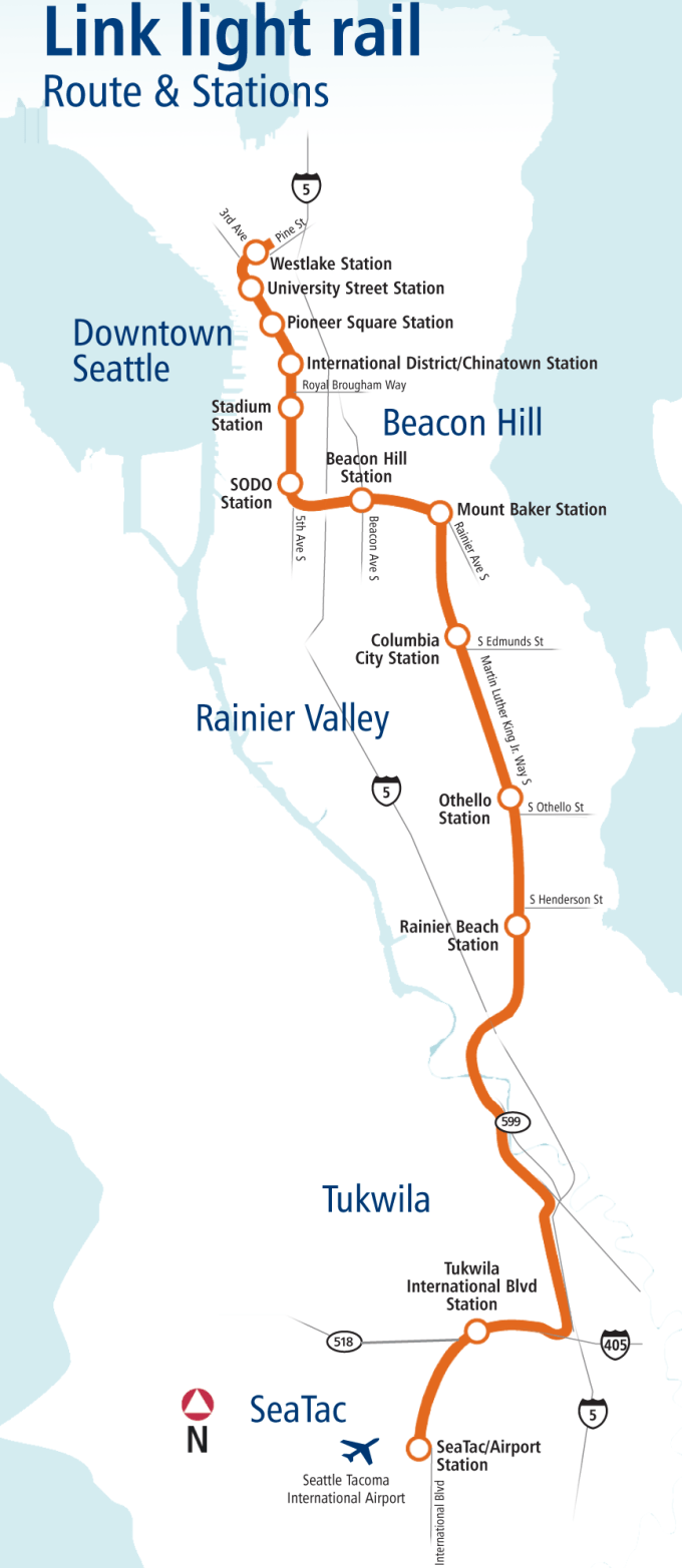 Seattle Light Rail Schedule Airport To Downtown | Americanwarmoms.org