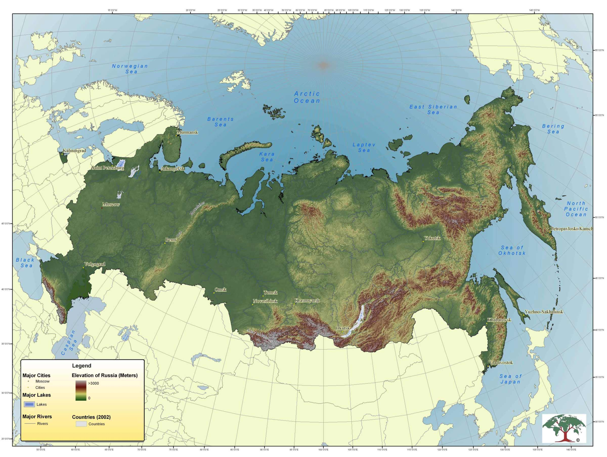 Topographic Map Of Russia Mapsof