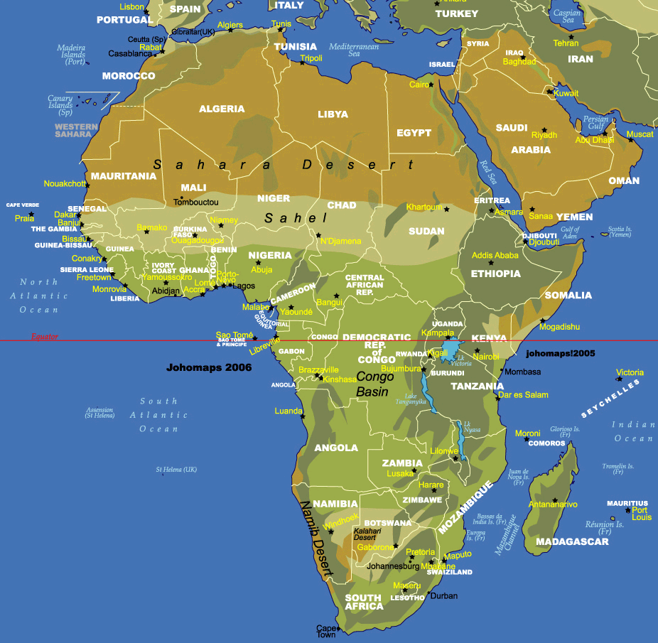 Physical Features Africa And Countries