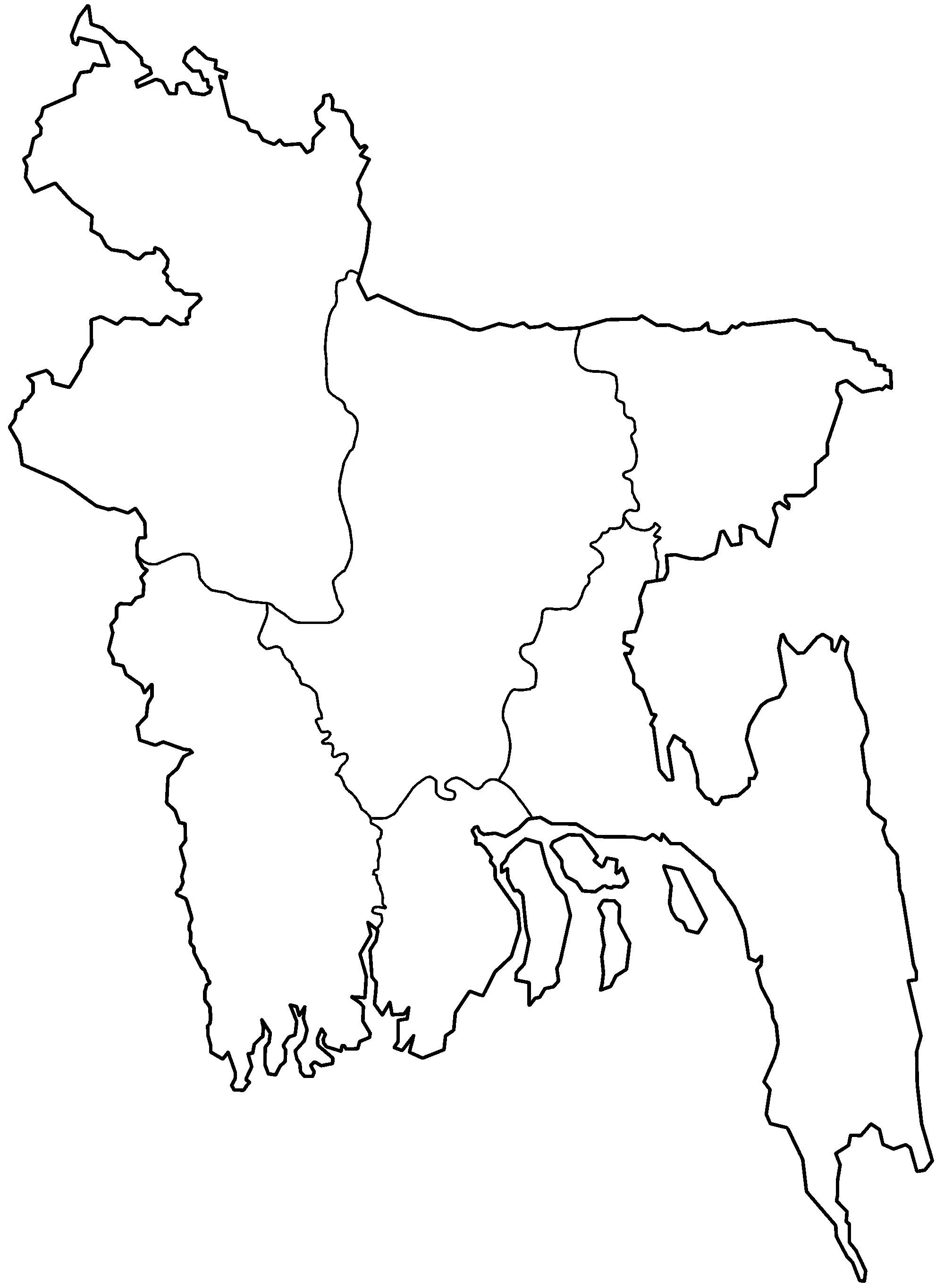 Bangladesh Divisions Blank Mapsof