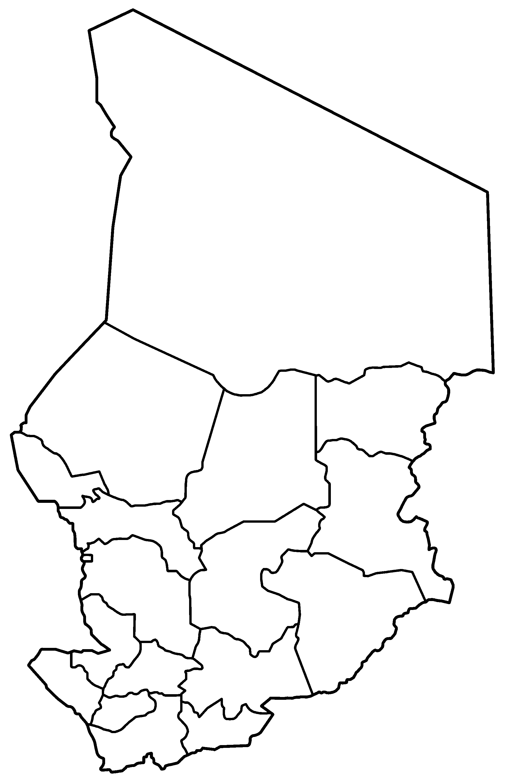 Chad Regions Blank • Mapsof.net