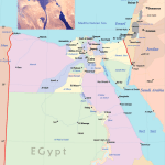 Egypt Political Map Mapsof Net