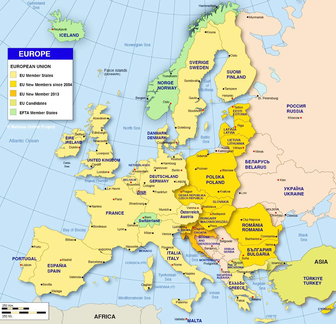 Map Europe 2016.Religion Map Europe 2016