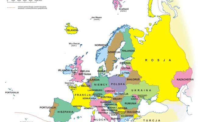 Europa Mapa Polityczna Mapsof Net