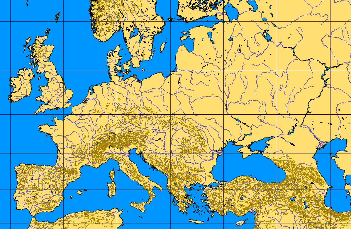 Europe 34 62 12 54 Blank Map Mapsof