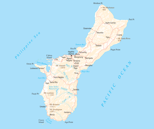 Guam Map World Of Map