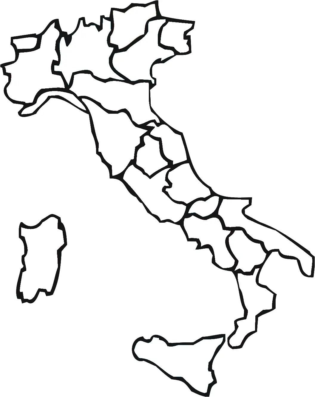 Italia Regioni Blank Mapsof
