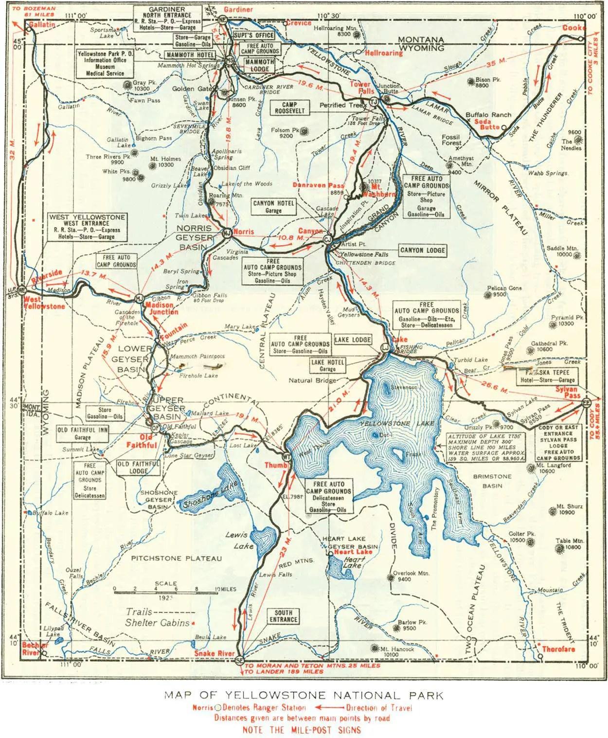 Map Of Yellowstone Mapsof