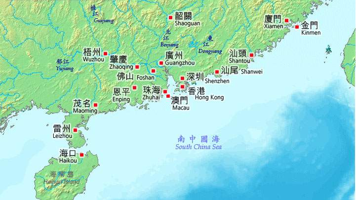 Hong Map China Kong Distance