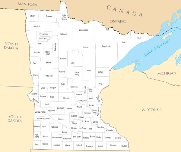 Minnesota County Map Mapsofnet