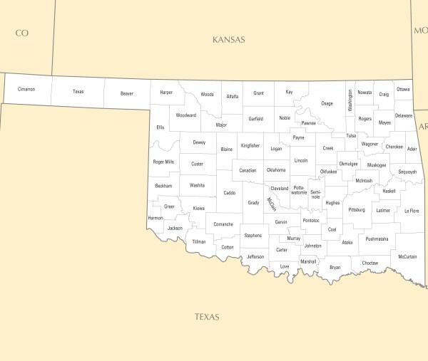 Oklahoma County Map Mapsofnet