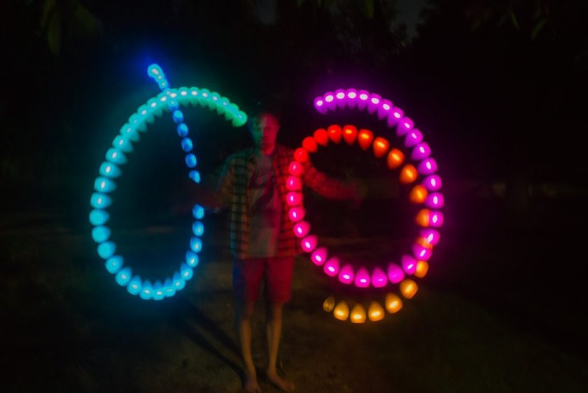 shane mauss poi lights trippy psychedelic