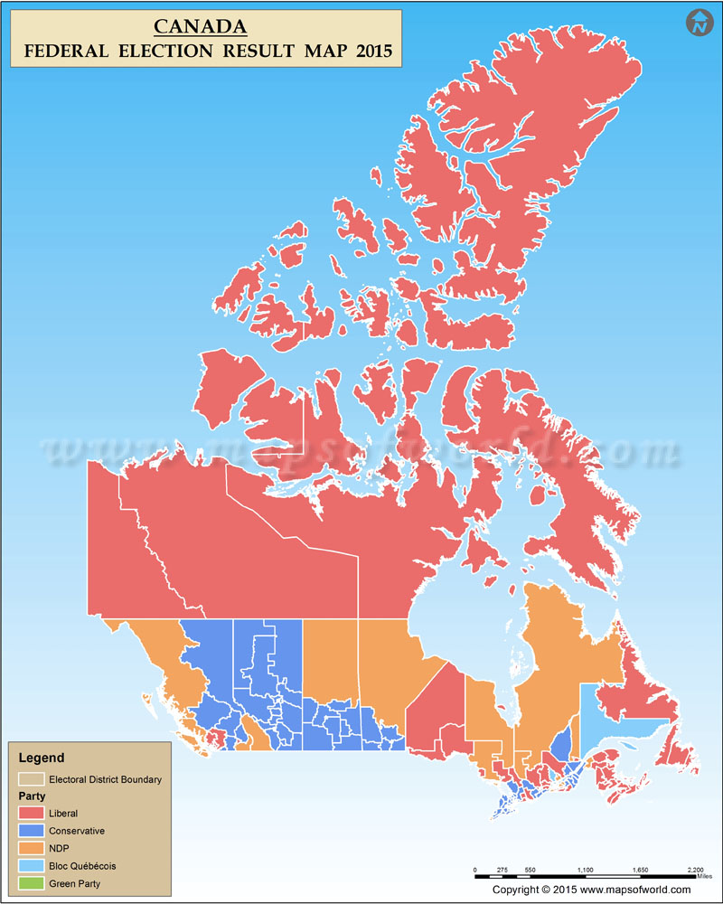 Canadian Election Map : canadian, election, Canada, Election, Results