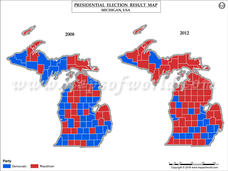 Michigan Election Results 2016  Map, County Results, Live