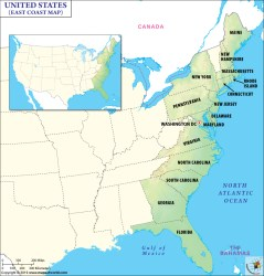 coast east map usa states eastern maps north united atlantic along cities northeast detailed mapsofworld county code posts email print