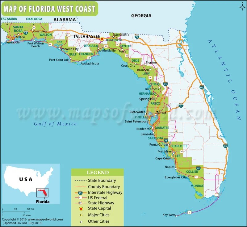 Map Of Western Florida Beaches – Lifestyle Intech