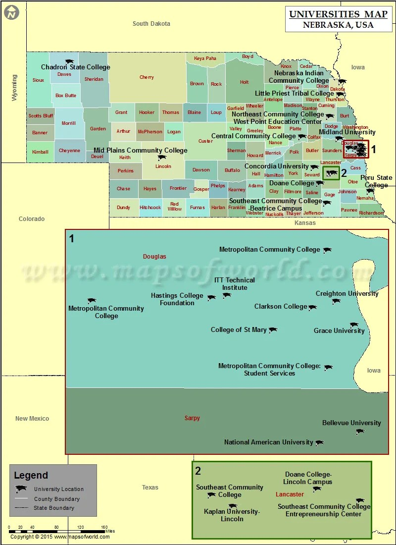 Lincoln Ne Zip Code Map : lincoln, Universities, Nebraska, Colleges