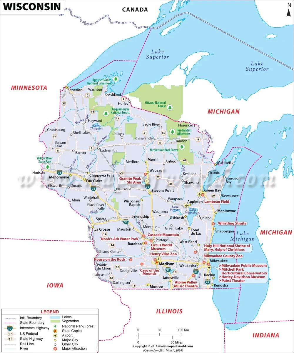 Madison Wi Zip Codes Map : madison, codes, Wisconsin, Postal