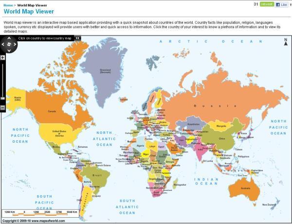World Map Viewer Maps of World