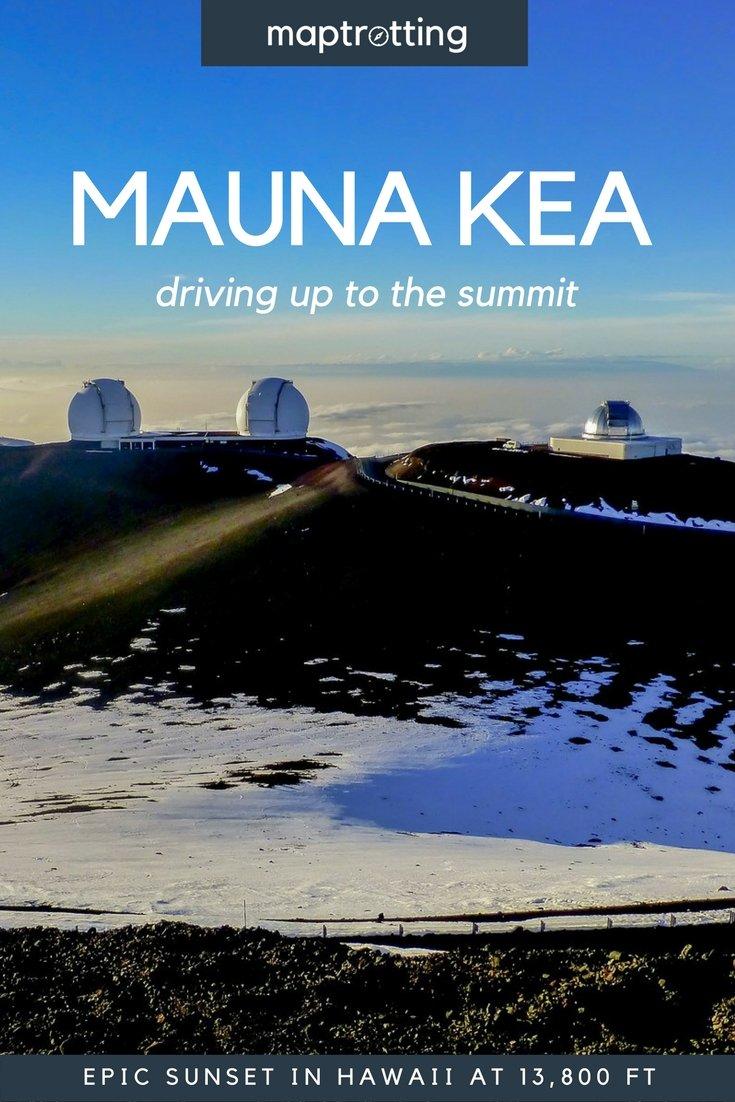 Driving up the Mauna Kea summit, Hawaii