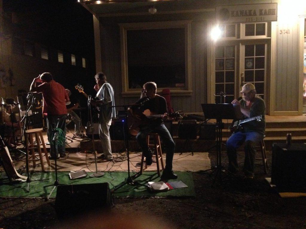Band playing at the Hanapepe Friday Night Festival