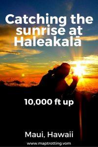 Cathing the sunrise at Haleakalā, Maui, Hawaii