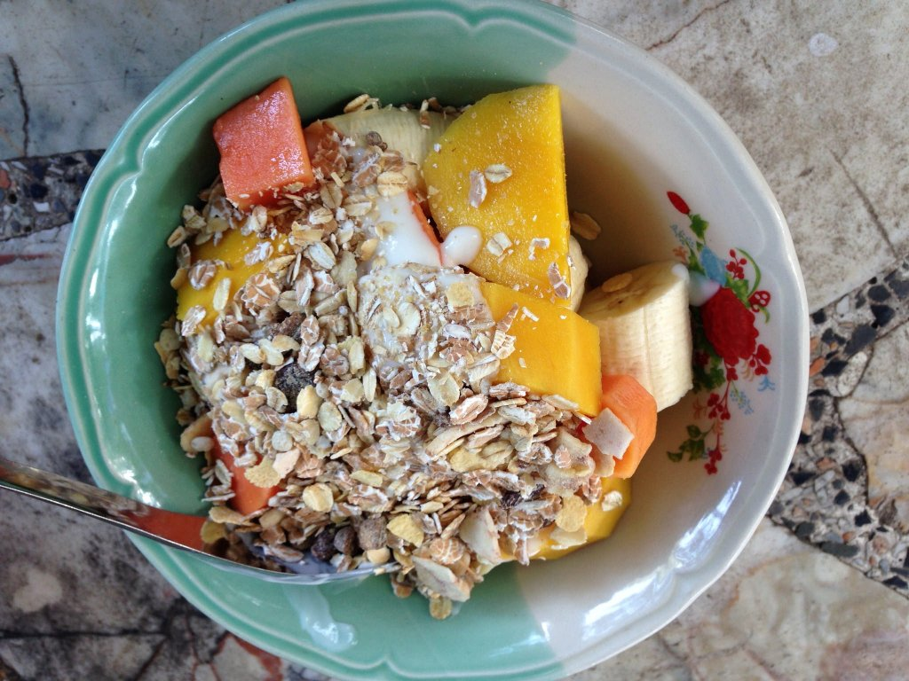 Bowl of fruit in Koh Tao Island