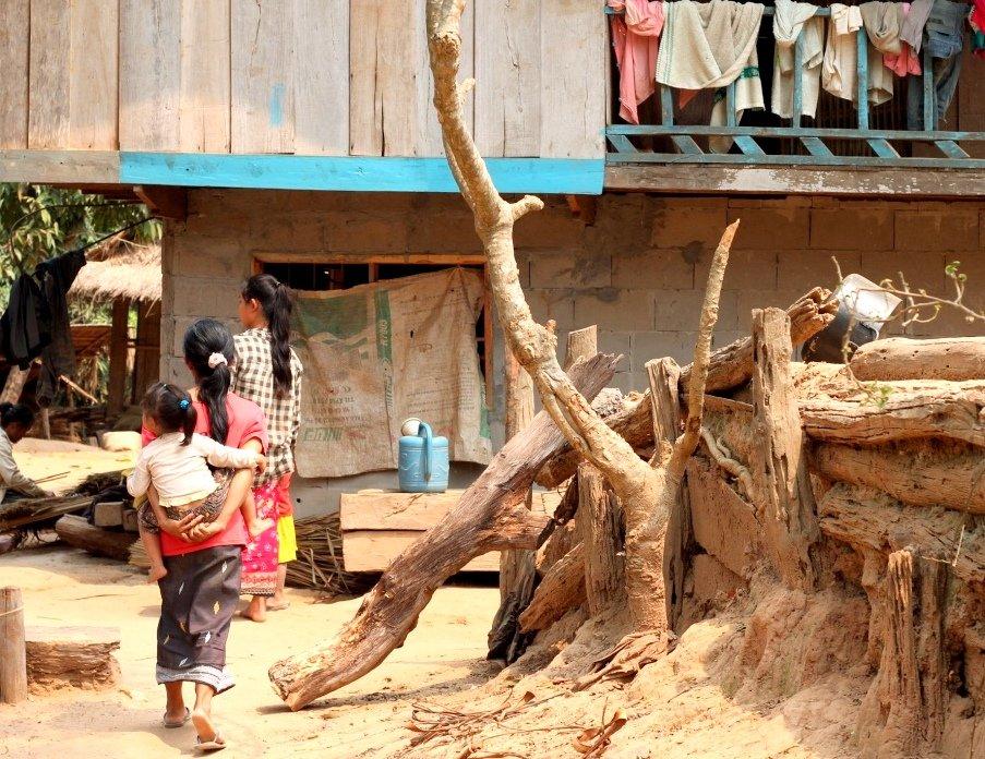 Ban Baw village, Mekong River, Laos
