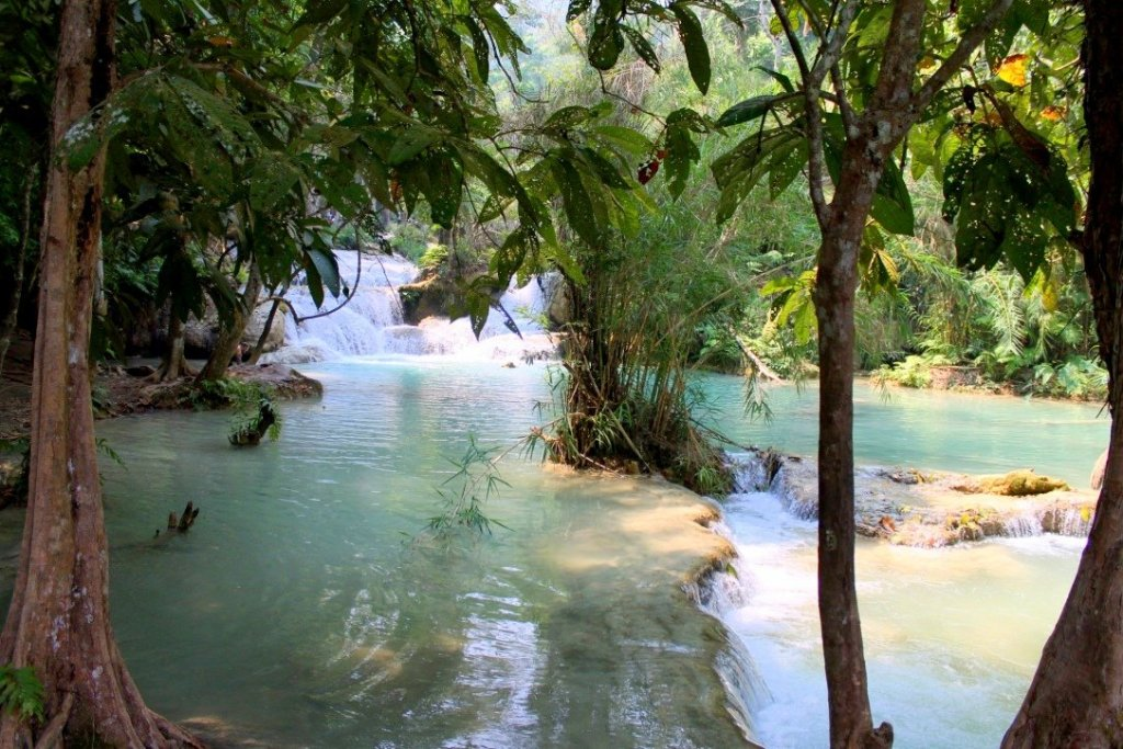 Kuang Xi waterfalls pools