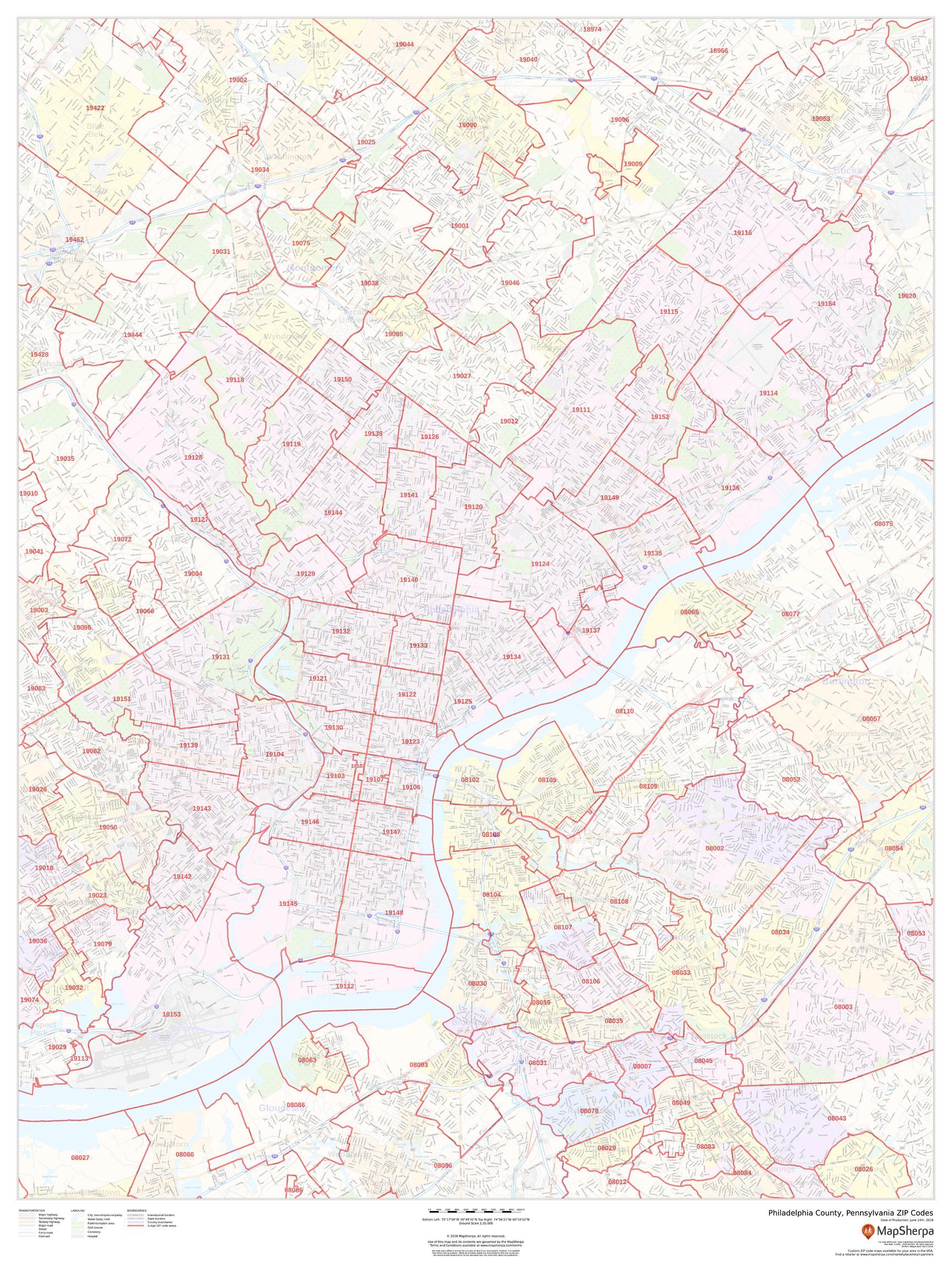 Montgomery County Pa Zip Code Map : montgomery, county, Philadelphia, County, Pennsylvania, Codes