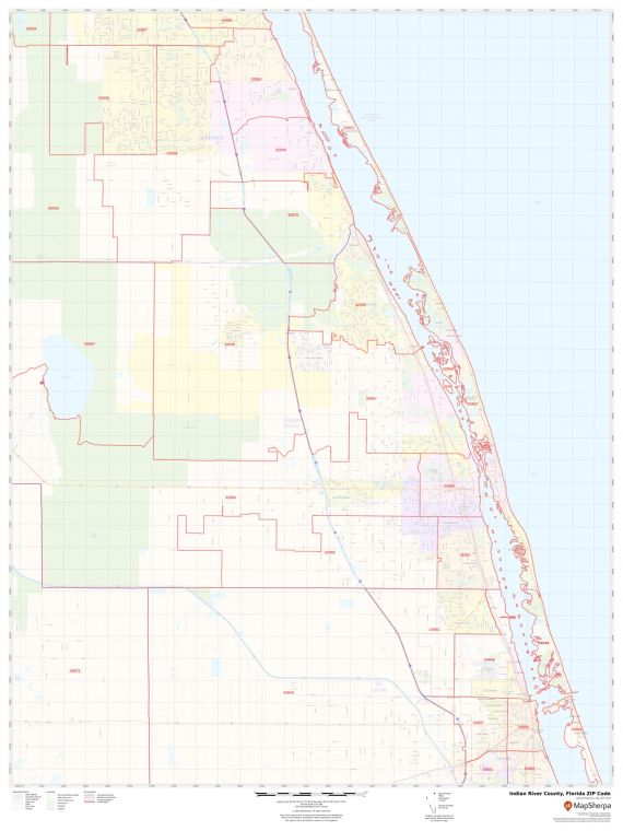 Port St Lucie Zip Code Map : lucie, Indian, River, County,, Florida