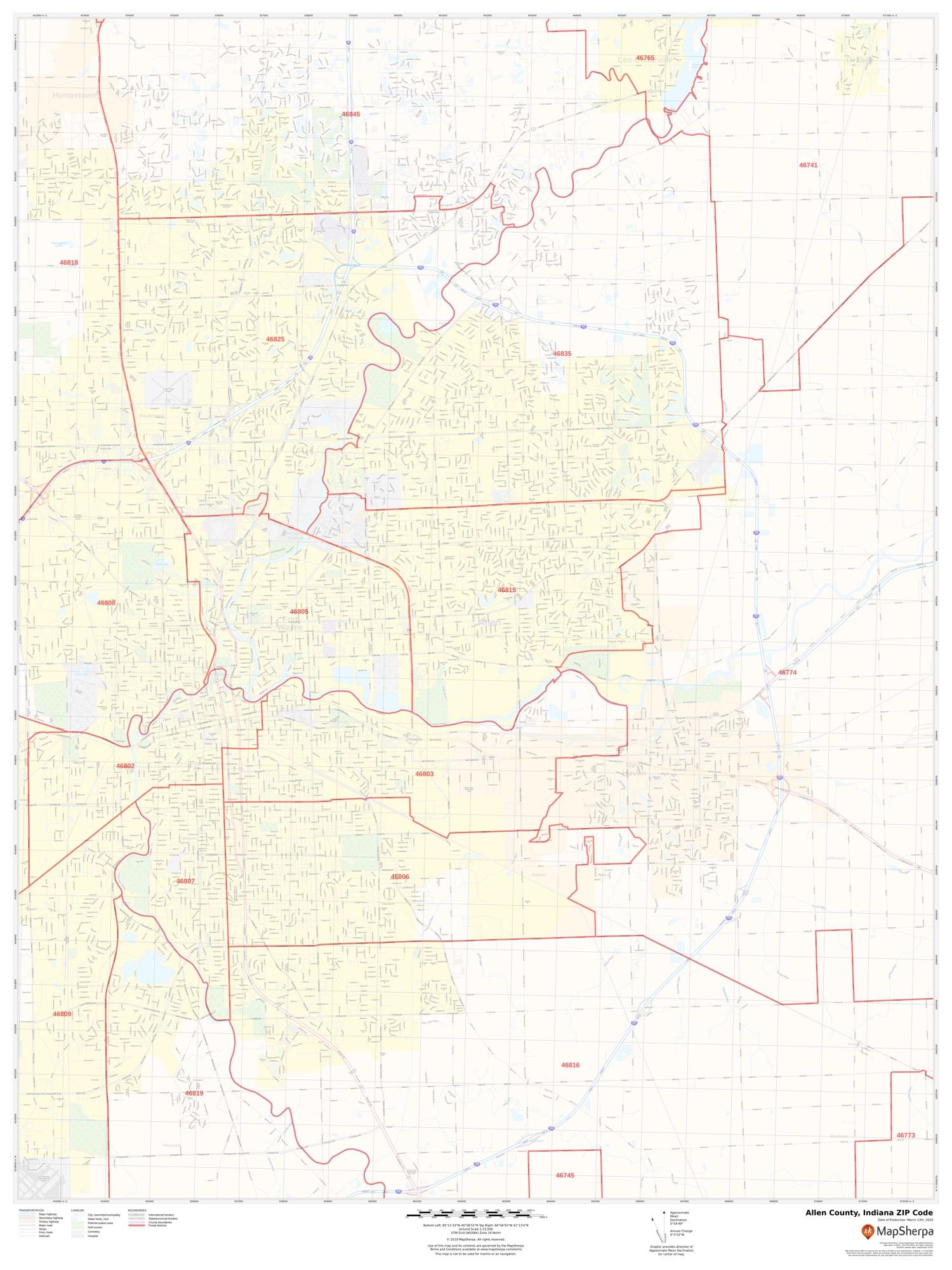 ZIP Code Maps: STATS Indiana