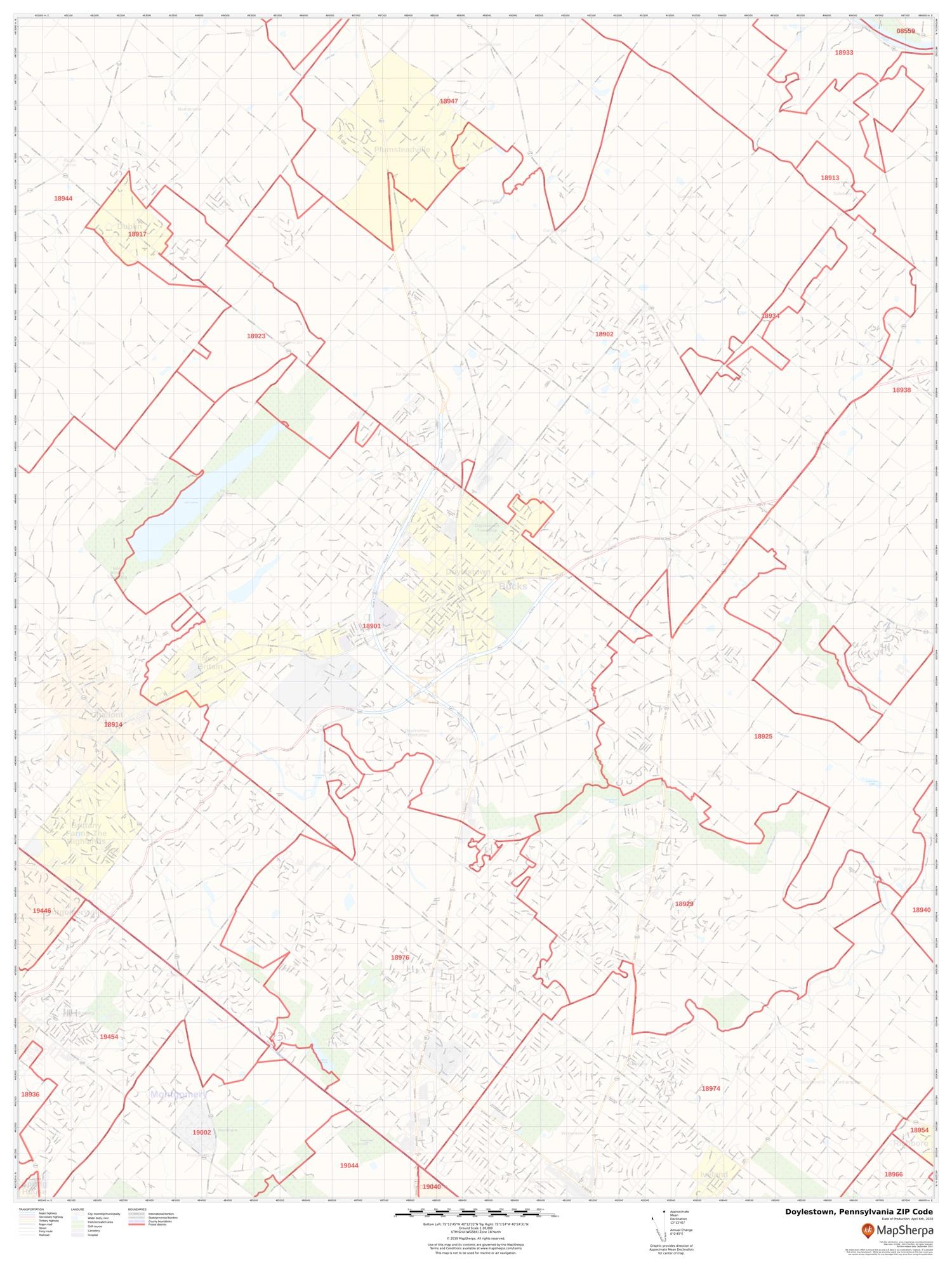 Montgomery County Pa Zip Code Map : montgomery, county, Doylestown