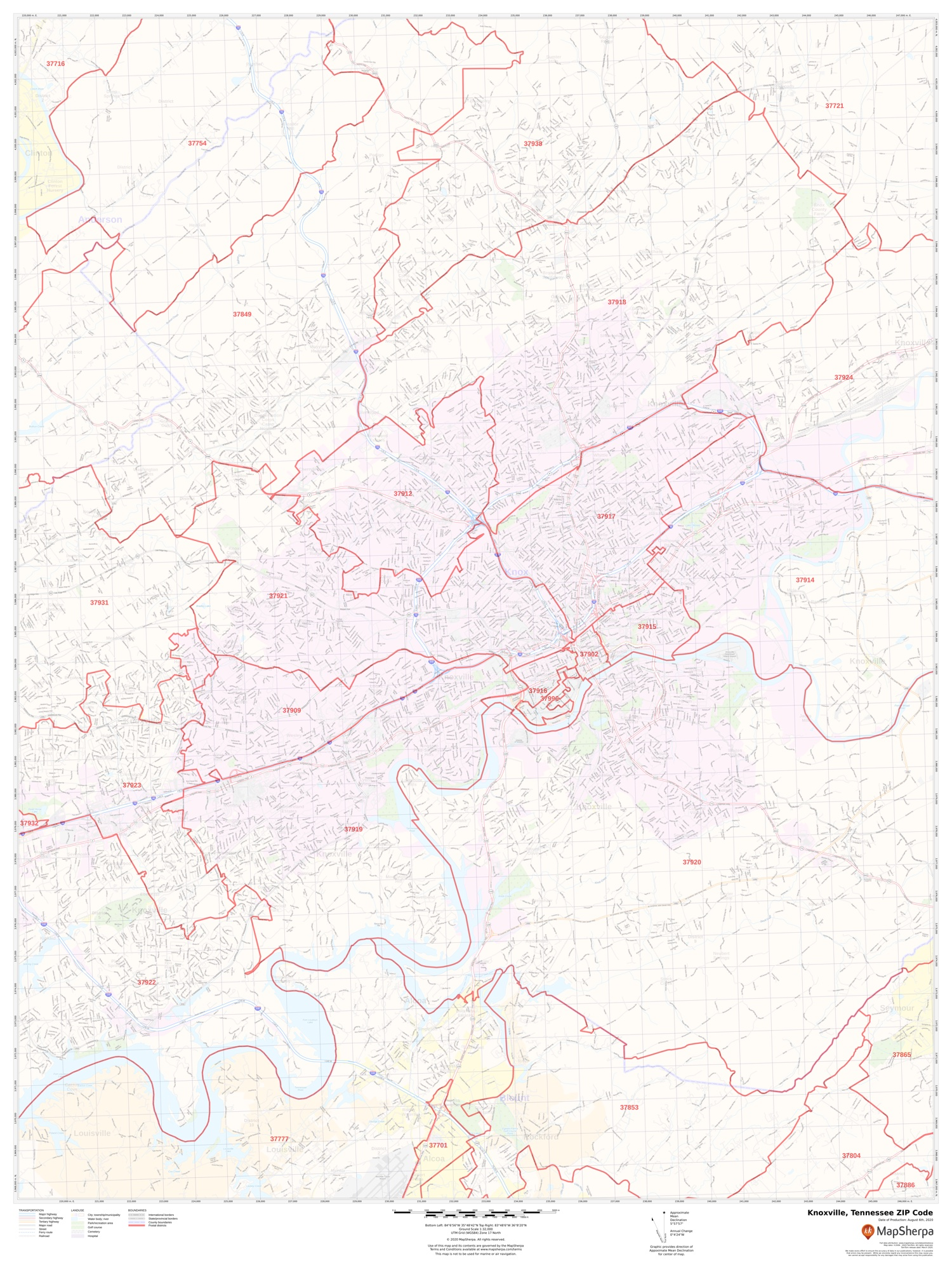 Knoxville, Tennessee   Zip Codes, Map & Detailed Profile