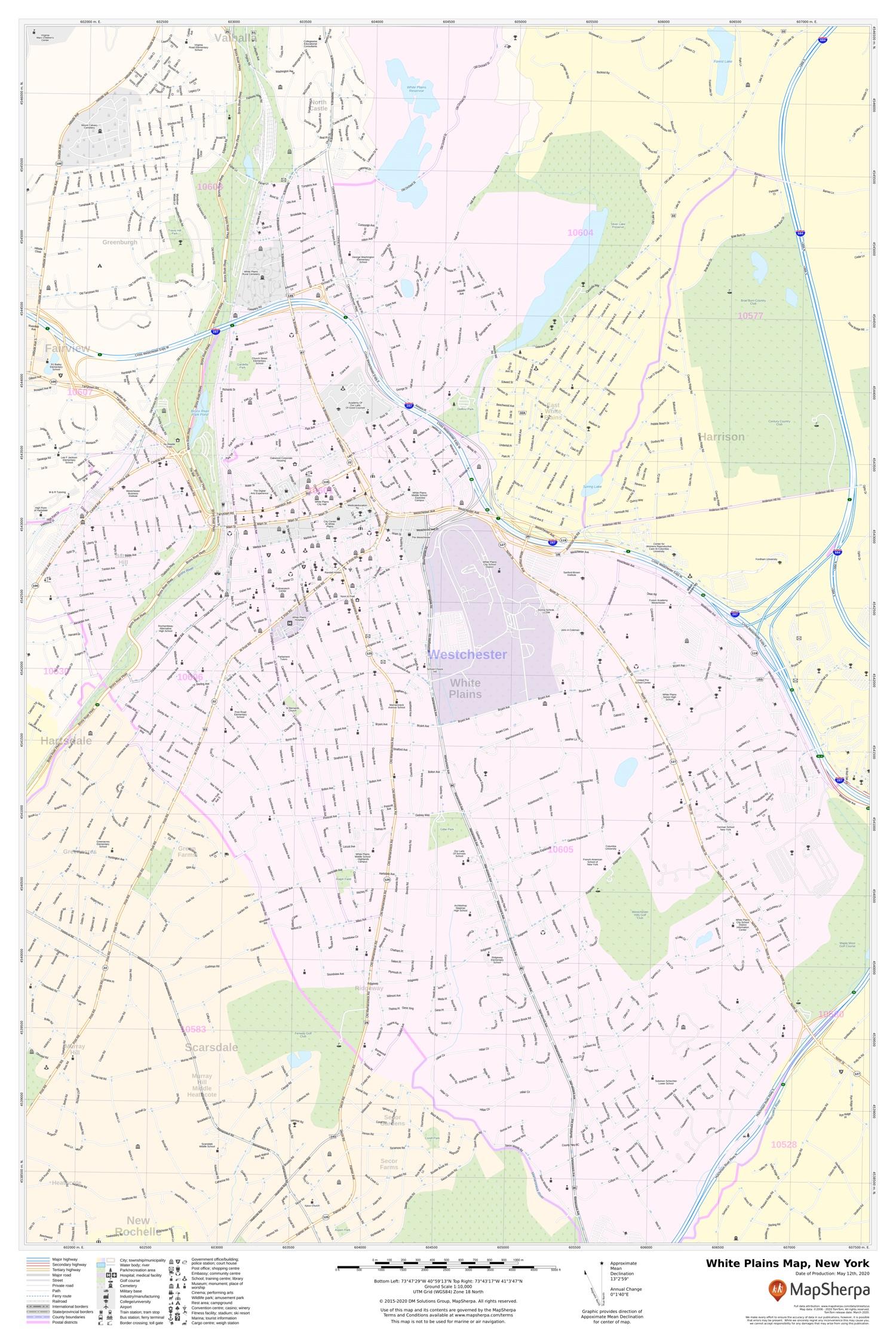 White Plains Zip Code Map : white, plains, White, Plains