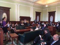 Rebekah at Lead Abatement bill event