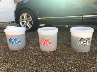 3 Bucket Wash (Wash, Rinse, Wheels)