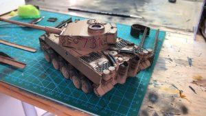 Maquetas hechas - Panzer Vi Tiger 1/48 Washes y desconchones