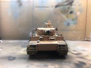 Maquetas hechas - Panzer Vi Tiger 1/48 Vista delantera resultado final
