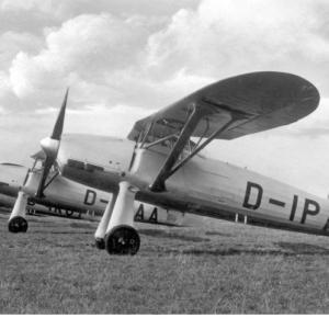 """Maquetas hechas - Focke-Wulf Fw 56 """"Stösser"""" Vista lateral"""
