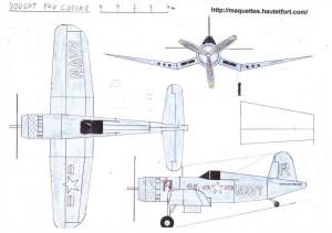 (3) F4U Corsair  Maquettes en papier  Paper models  ペーパーモデル
