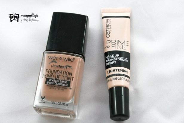 productos de maquillaje terminados