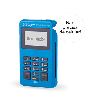 Maquininha Mercado Pago Point Mini Chip