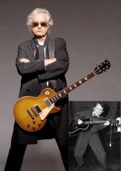 Jimmy Page antes de depois