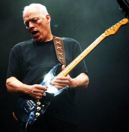 A clássica strato preta do Gilmour