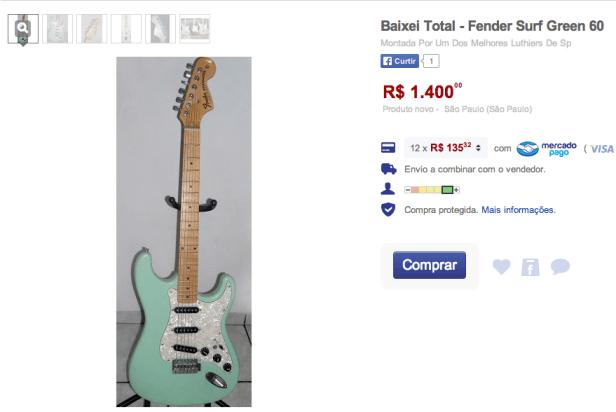 Fender Surf Green Falsificada Mercado Livre