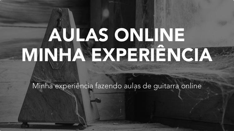 Usando aulas de guitarra online