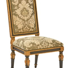 Marge Carson Chairs Dining Table And For Sale Grand Traditions Side Chair Shown With Bombay Nbsp Finishvenetian Gold Leaf Finish Trimbronze