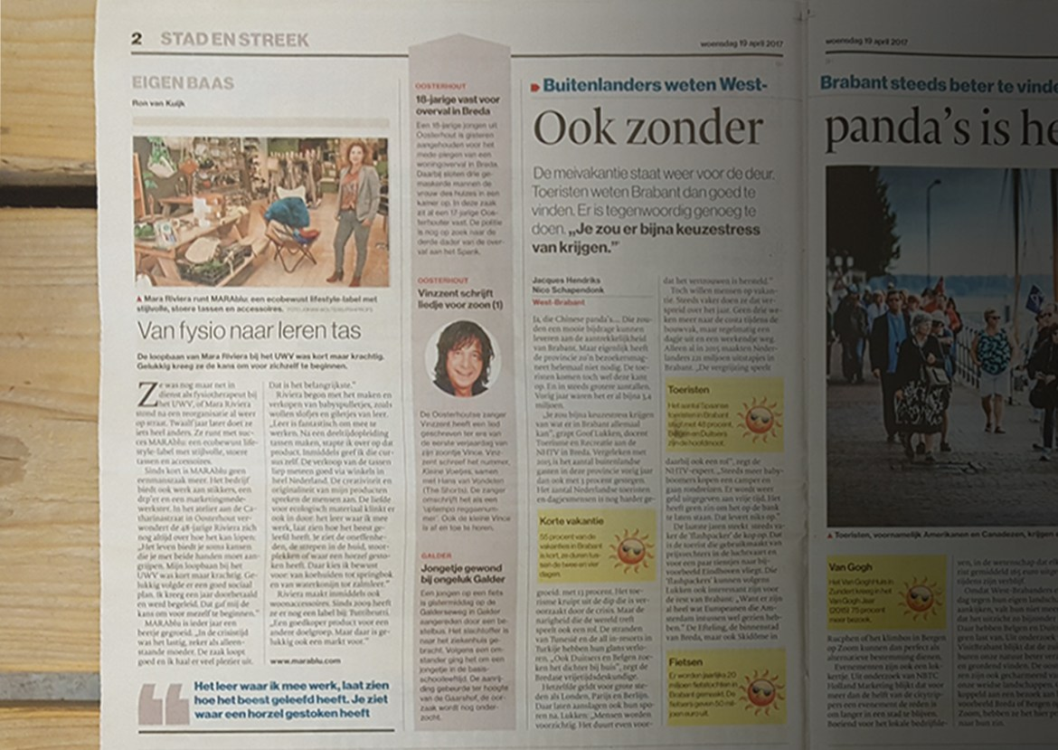 BN de Stem met artikel over MARAblu