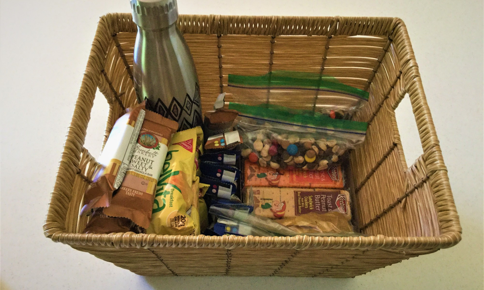 Bedside snack basket for nursing and breastfeeding mothers